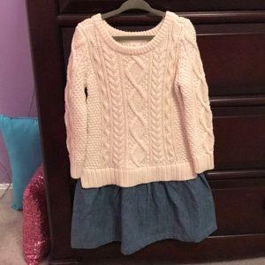 Girls sweater dress